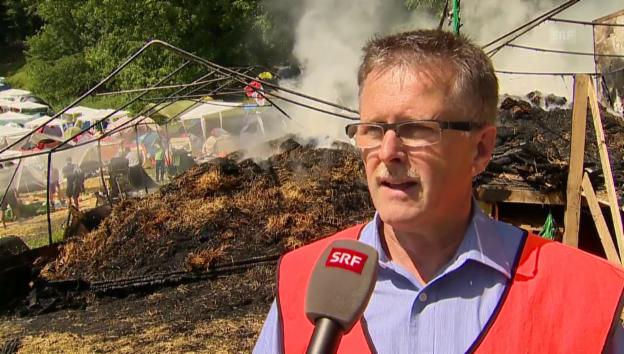 Video «Die Kantonspolizei informiert über den Brand» abspielen
