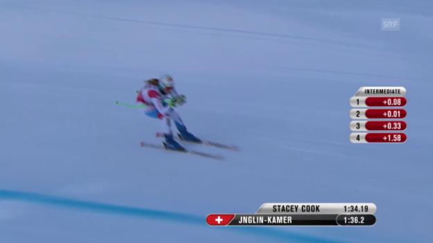 Video «Ski: Trainingsfahrt von Jnglin-Kamer» abspielen