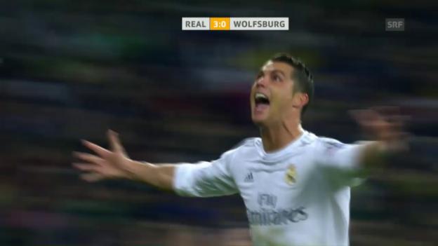 Video «Ronaldos grosser Abend gegen Wolfsburg» abspielen