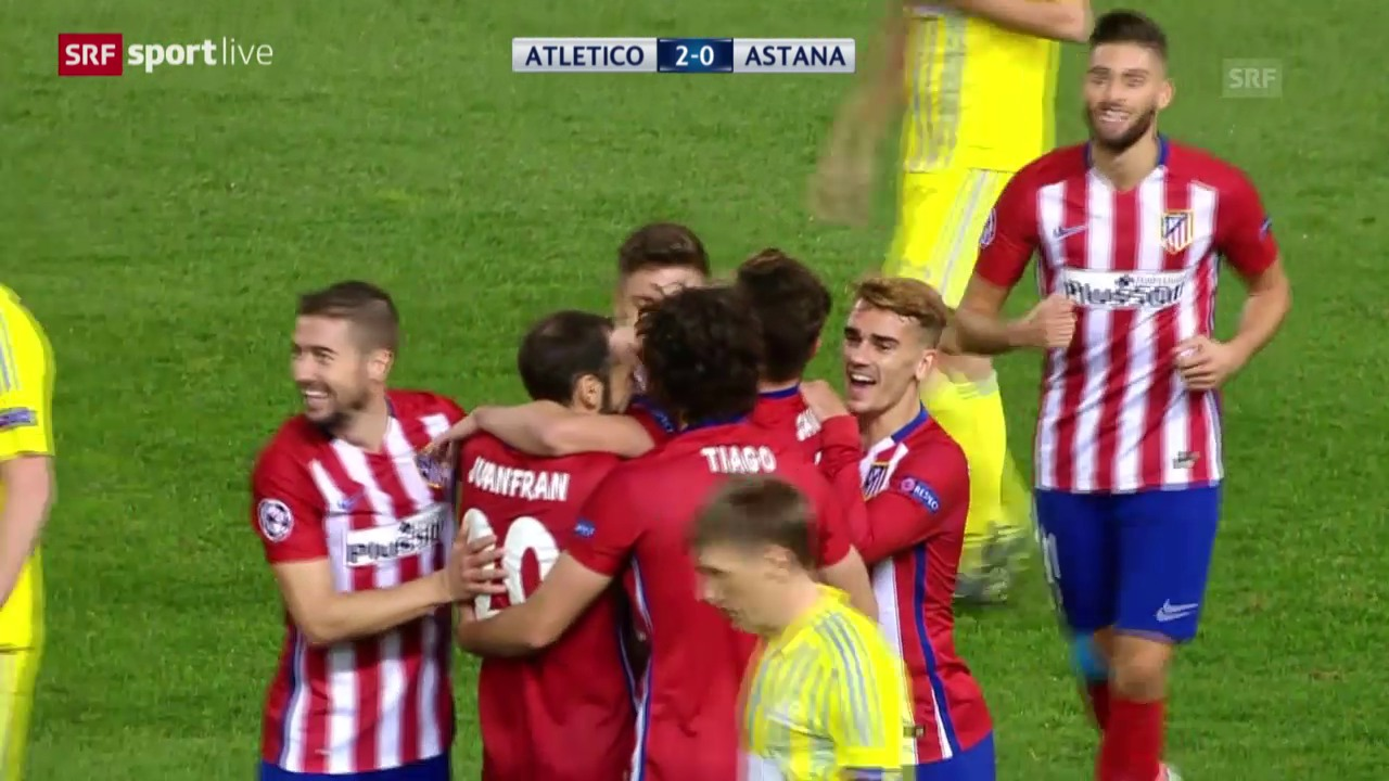 Fussball: CL, Atletico Madrid - Astana