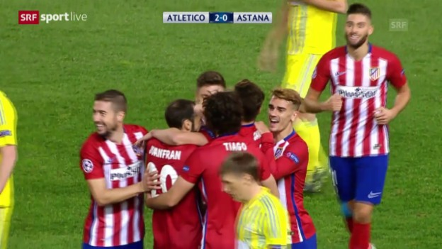 Video «Fussball: CL, Atletico Madrid - Astana» abspielen