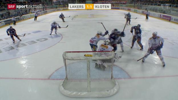 Video «Eishockey: Lakers - Kloten» abspielen