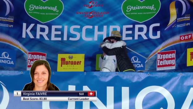 Video «Freeski: Halfpipe, 3. Final-Lauf Virginie Faivre» abspielen