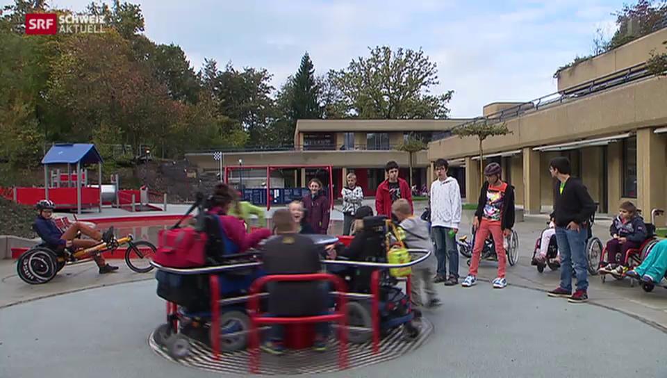 Neuer Abenteuer-Spielplatz für behinderte Kinder