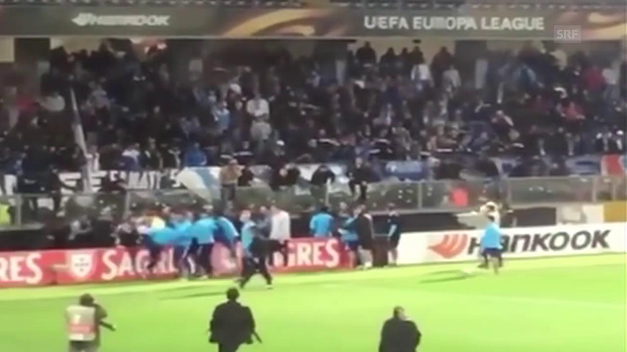 Evras Kick 2017 gegen einen Zuschauer