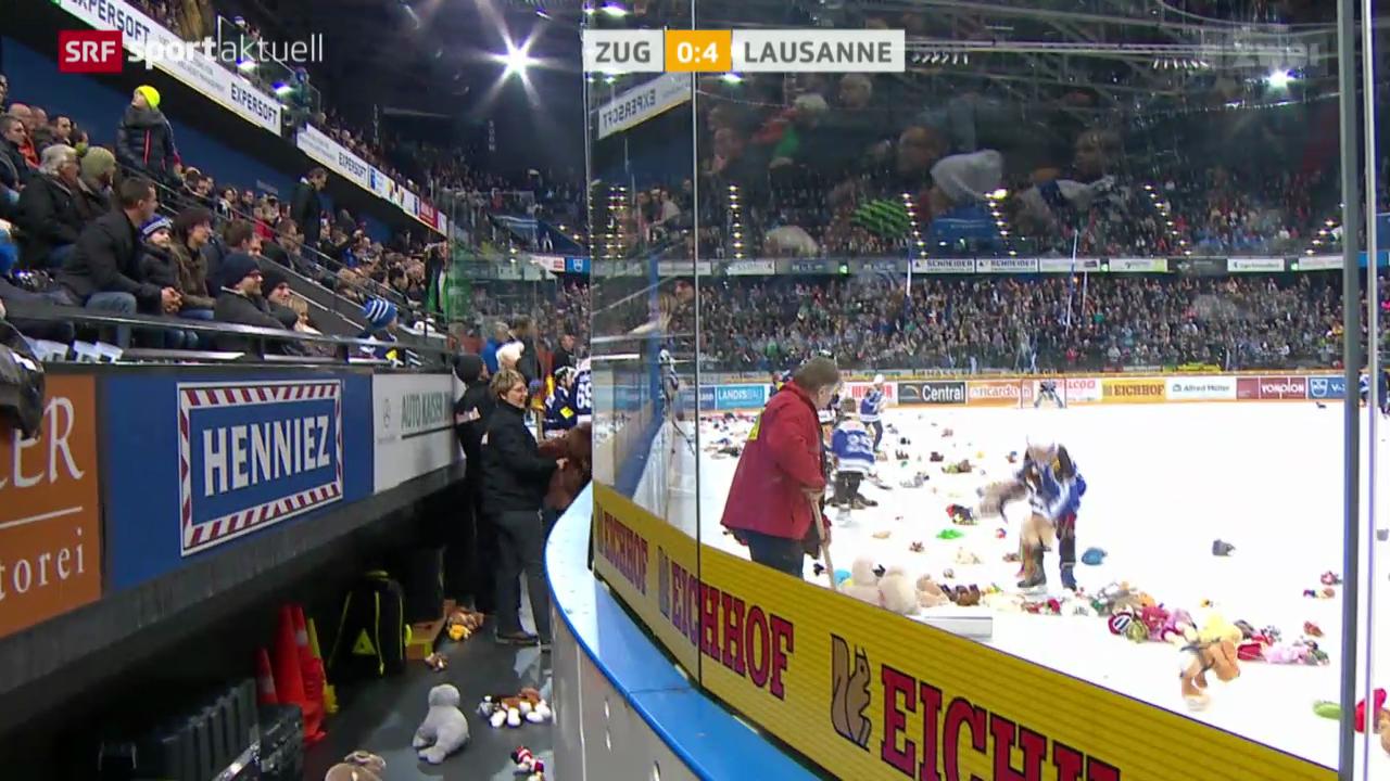 Eishockey: Zug - Lausanne