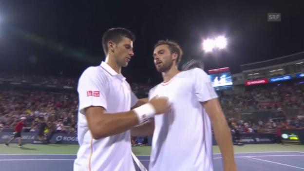 Video «Tennis: ATP Montreal, Djokovic schlägt Gulbis» abspielen
