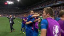Video «Die Live-Highlights bei England - Island» abspielen