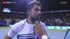 Video «Tennis: ATP-Turnier Chennai, Wawrinka - Coric» abspielen