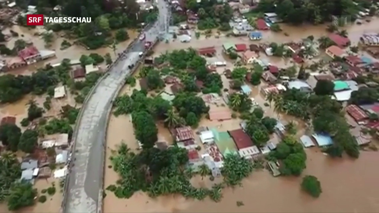 Tropensturm auf den Philippinen