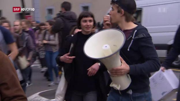 Video «Schüler-Protest gegen Abbau in der Bildung» abspielen