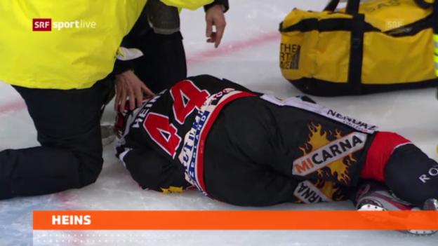 Video «Eishockey: Entwarnung bei Shawn Heins» abspielen