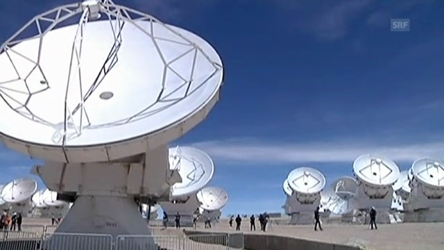 66 Radio-Antennen bilden das Teleskop «Alma» (unkommentiert)