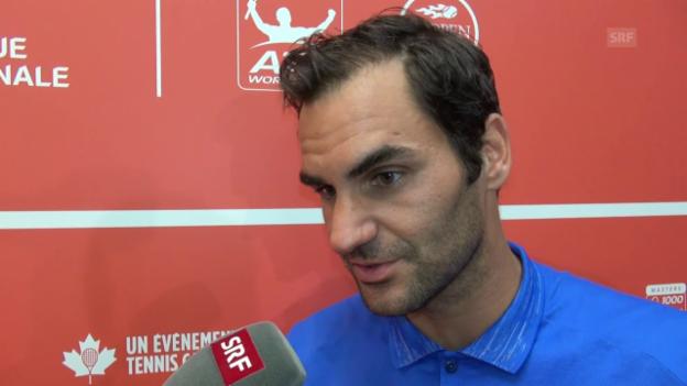 Video «Federer über Halbfinal-Gegner Haase» abspielen