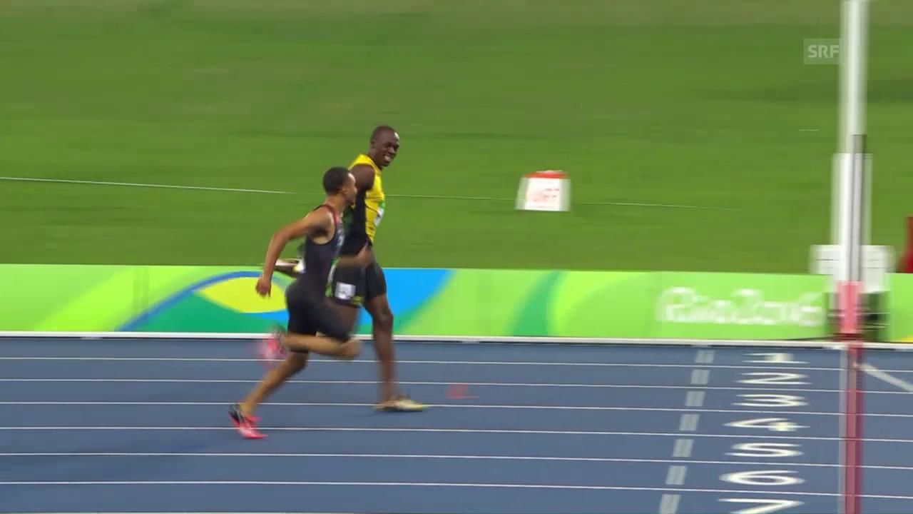 Der Halbfinallauf von Bolt