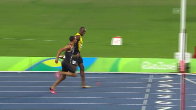 Video «Der Halbfinallauf von Bolt» abspielen