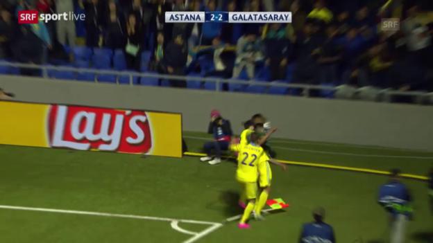 Video «Fussball: CL, Astana - Galatasaray» abspielen
