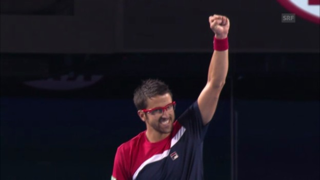 Video «Tennis: Highlights Lleyton Hewitt - Janko Tipsarevic («sportlive»)» abspielen