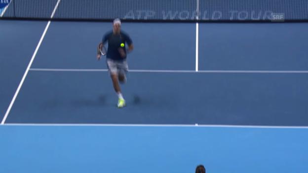 Video «Tennis: Toller Ballwechsel mit mehreren Lobs («sportlive»)» abspielen