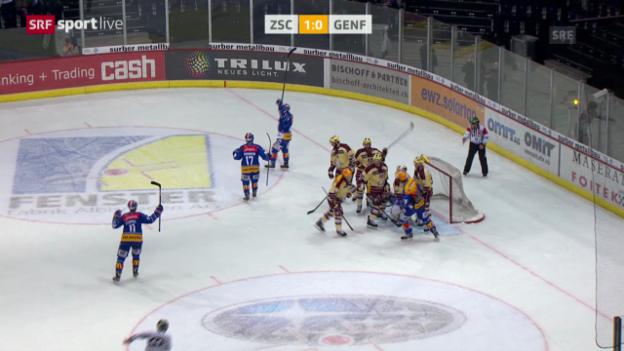 Video «Eishockey: Playoff-Halbfinals, ZSC Lions - Genf-Servette» abspielen