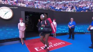 Video «Williams läuft zu früh auf den Platz» abspielen