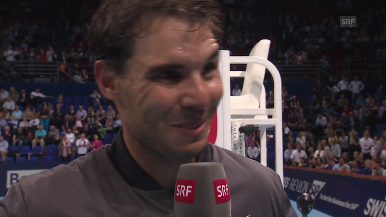 Tennis: Swiss Indoors Basel, Platzinterview mit Rafael Nadal