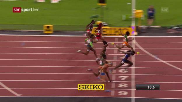 Video «Der Herzschlag-Final der Frauen über 100 m» abspielen