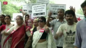 Video «Vergewaltigung in Indien – Polizei in der Kritik» abspielen
