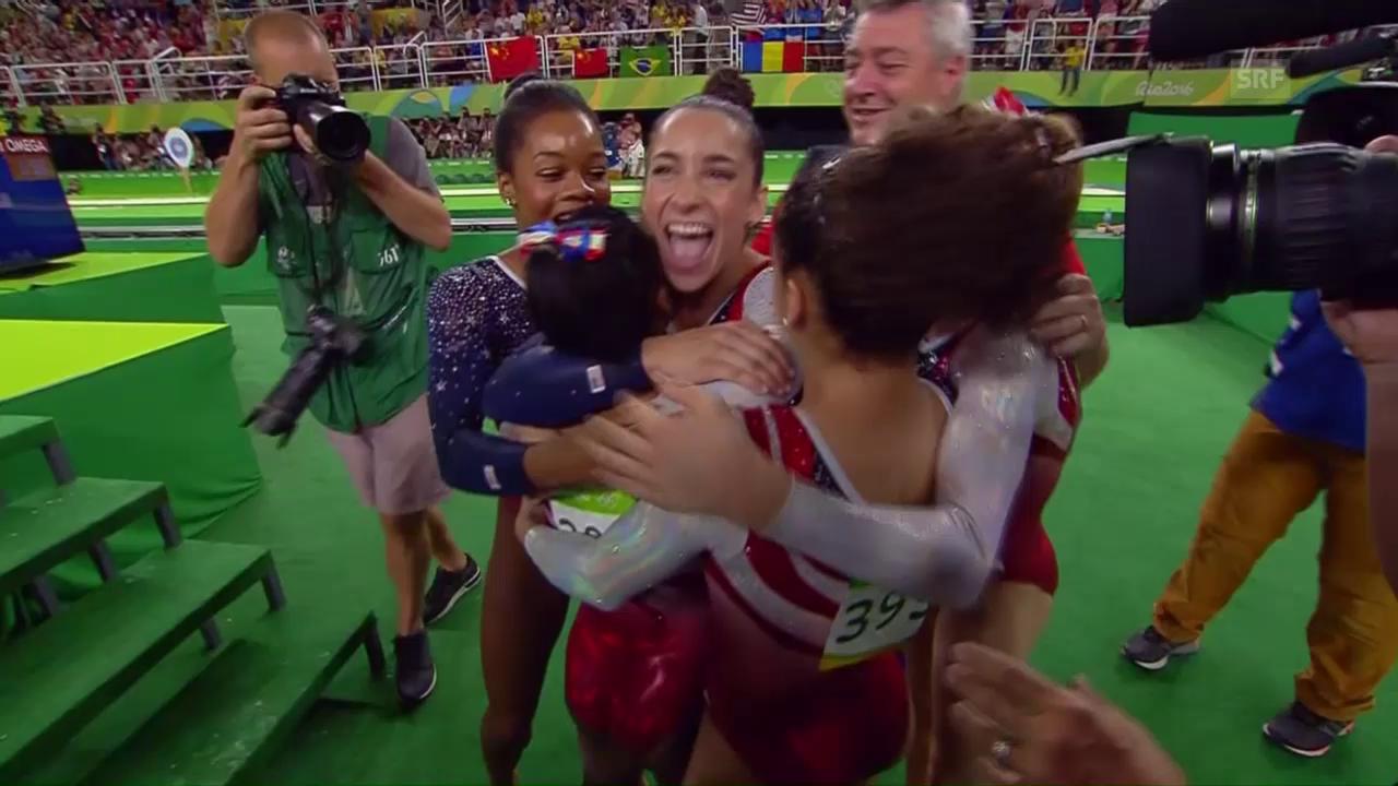 Auch dank überragender Biles: Gold für die USA