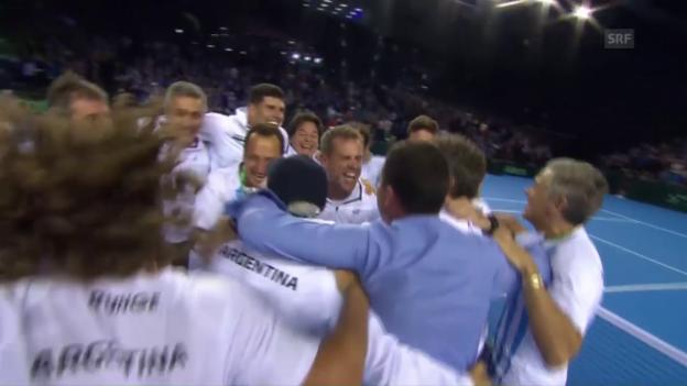 Video «Mayer holt den entscheidenden Punkt für Argentinien (SNTV)» abspielen