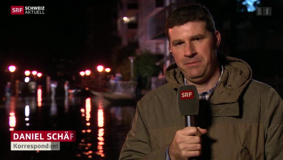 SRF-Korrespondent Daniel Schäfer über die Lage in Locarno