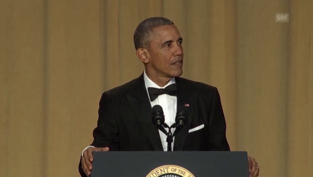 Video «Obamas ganze Rede – gespickt mit Pointen» abspielen