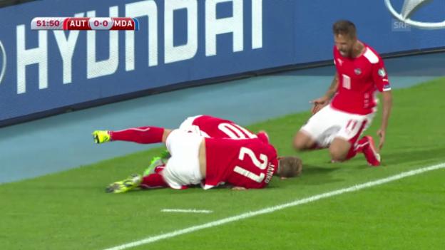 Video «Fussball: EM-Quali, Gruppe G, Österreich - Moldawien» abspielen
