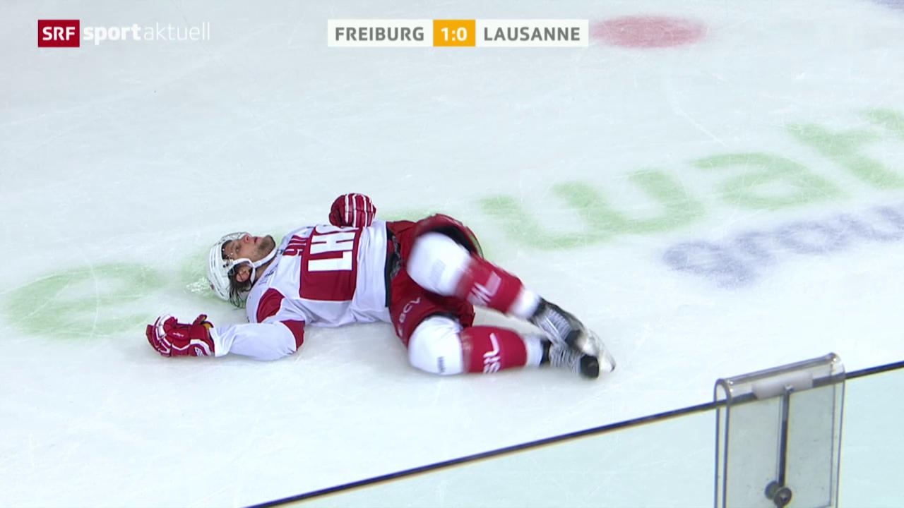 Eishockey: NLA, 7. Runde, Check von Julien Sprunger