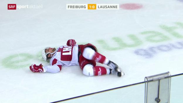 Video «Eishockey: NLA, 7. Runde, Check von Julien Sprunger» abspielen