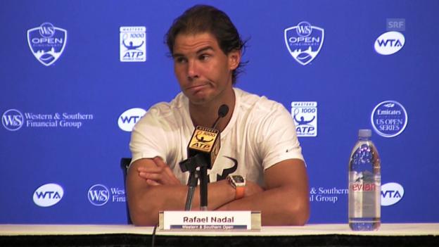 Video «Tennis: ATP Cinicnnati 2015, Nadal an der PK» abspielen