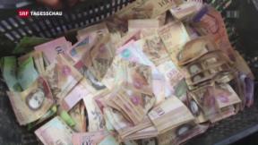 Video «Venezolaner in Geldnöten» abspielen