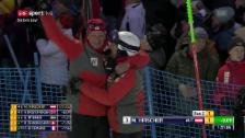 Link öffnet eine Lightbox. Video Hirschers Triumphfahrt in Levi abspielen