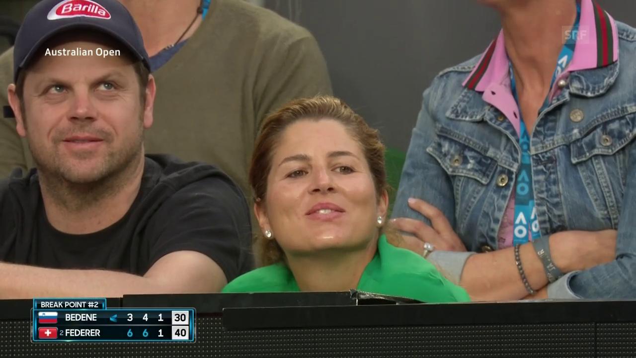 Federer sorgt für Lacher: «Nicht mein Baby»