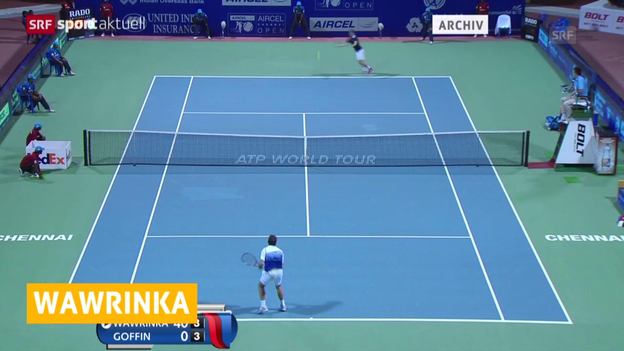 Tennis: Rotterdam-Viertelfinal, Wawrinka - Muller