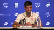 Video «Tennis: ATP Cincinnati, Djokovic nach Sieg gegen Goffin» abspielen
