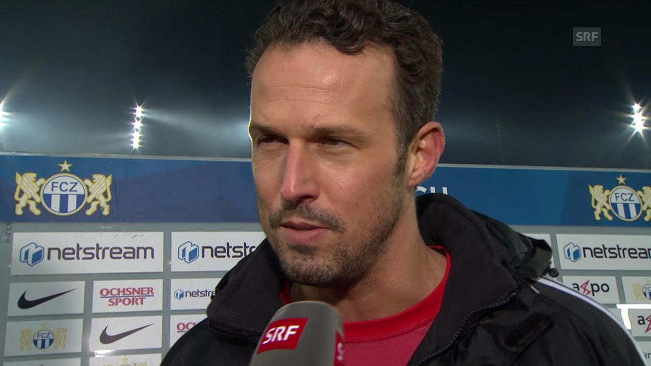 Fussball: Super League, FC Zürich - FC Basel, Interview Streller