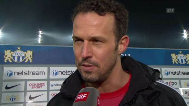 Video «Fussball: Super League, FC Zürich - FC Basel, Interview Streller» abspielen