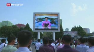 Video «Erdbeben in Nordkorea – Test einer Wasserstoffbombe?» abspielen