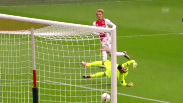 Video «Ajax Amsterdam gewinnt Offensiv-Spektakel gegen Lyon» abspielen