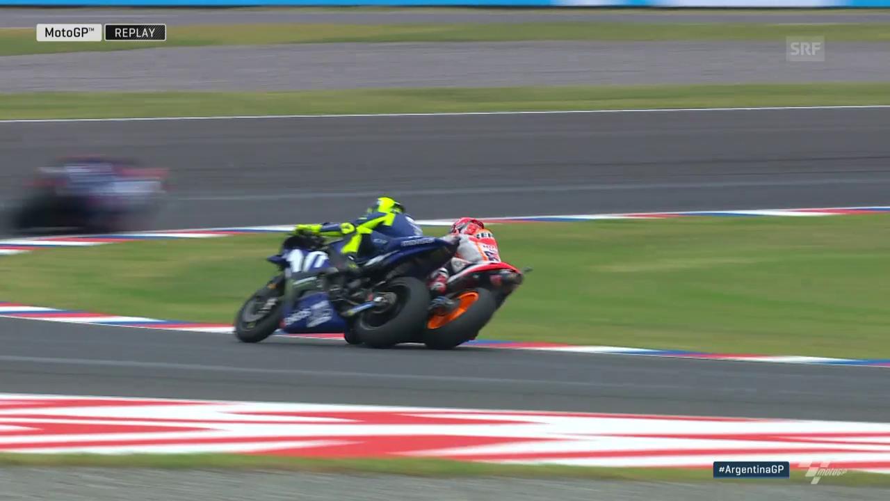 Dicke Luft zwischen Rossi und Marquez