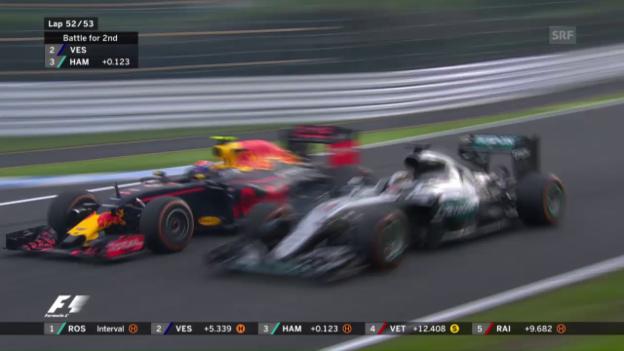 Video «Der Zweikampf zwischen Verstappen und Hamilton» abspielen