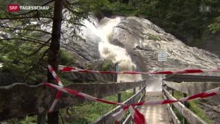 Video «Gletschersee auf der Plaine Morte ist übergeschwappt» abspielen