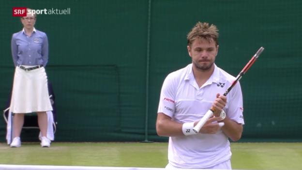 Video «Tennis: Wimbledon, Wawrinka - Estrella Burgos» abspielen