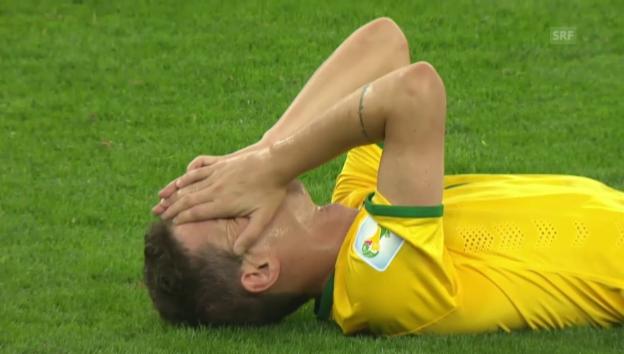 Video «WM 2014: Brasiliens 1:7-Demütigung im Halbfinal gegen Deutschland» abspielen